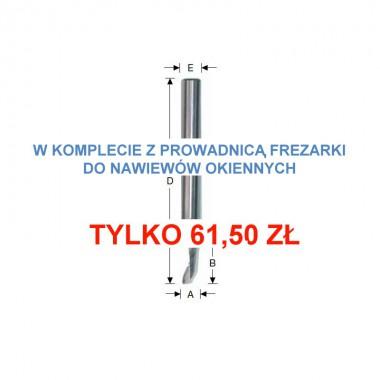 Frez HSS-E 8x25/100x8 mm spiralny z  prowadnicą frezarki do nawiewników...